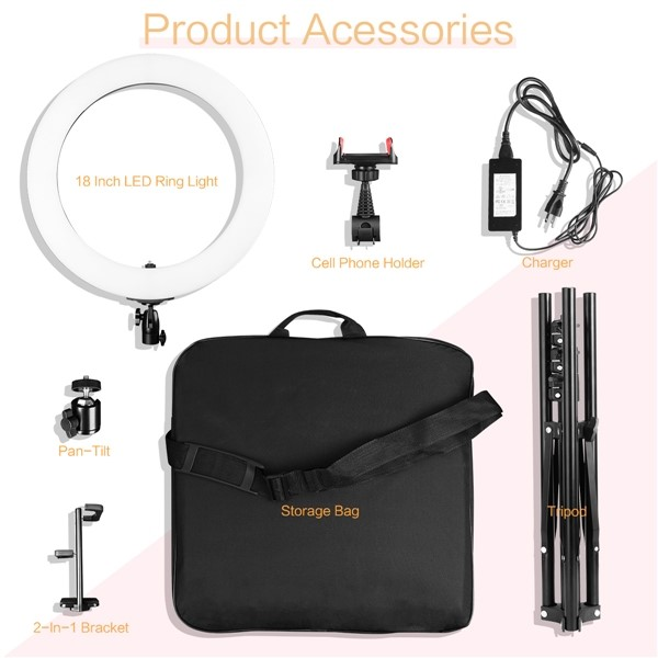 18 inch ring light kit accessories