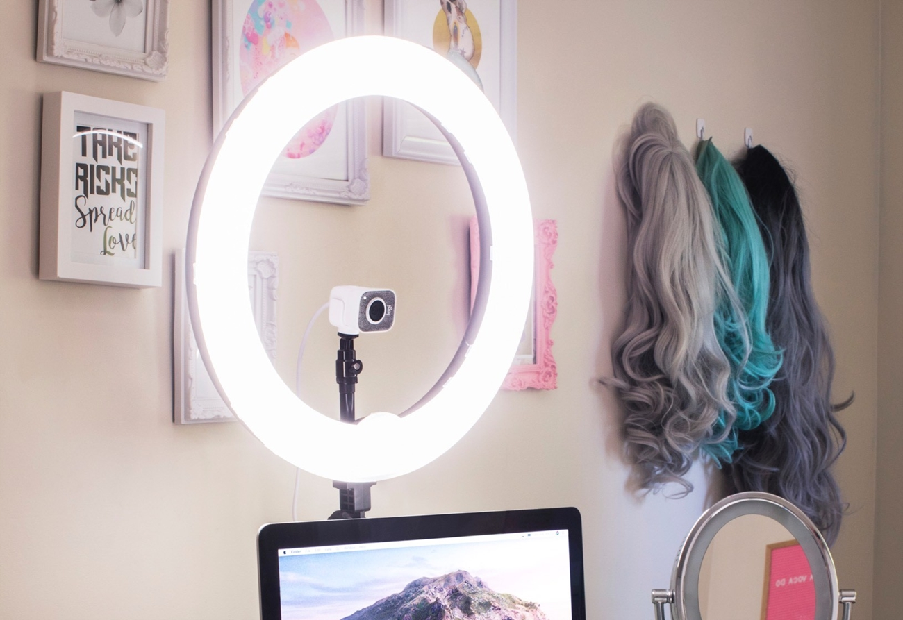 use ring light for video