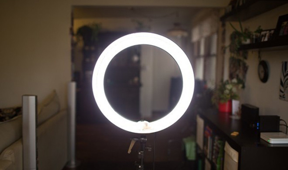 large ring light with stand